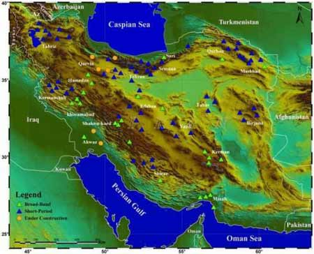 IRSC Stations آشنایی با شبكههای لرزهنگاری مركز لرزهنگاری كشوری + اطلاعات آنلاین زمین لرزه های ایران