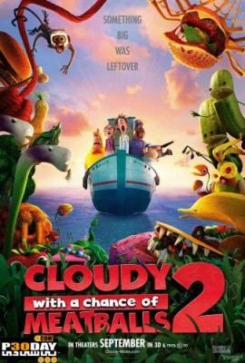 انیمیشن Cloudy with a Chance of Meatballs 2